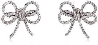 bow earrings apples figs jewelry silver bow ribbon earrings pippa