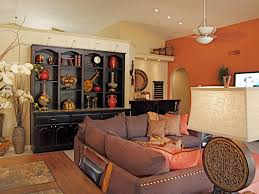 living room brown couch with orange pillows for 2017 living room