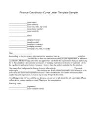 finance cover letter example sample latex resume free baby shower
