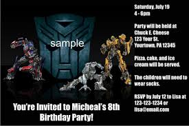 printable birthday invitations for boys transformers