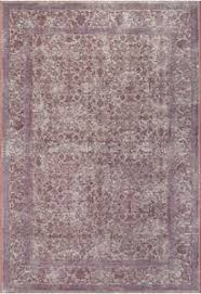 Cotton Chenille Rug Faded Vintage Traditional Persian Oriental Style Pink Purple