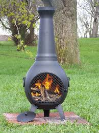 wood burning chiminea outdoor fire pit dudeiwantthat com