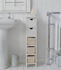 Bathroom Storage Cabinet With Drawers by Slim White Wooden Storage Cabinet With Drawers Bathroom Bedroom
