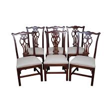 ethan allen georgian court chippendale style dining chairs set