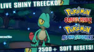 Omega Ruby Live Shiny Treecko After 2508 Soft Resets Pokemon Omega Ruby