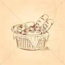 basket of bread vector image 1943331 stockunlimited