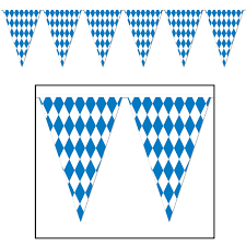 Blue Flag White X Amazon Com Beistle 120 Foot Oktoberfest Bavarian Check Flag