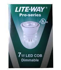 Led Light Bulb Mr16 by Lite Way Pro Series Led Light Bulb Mr16 7w Warm White 12v