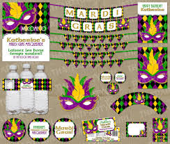 mardi gras party favors mardi gras masquerade party package decorations favors