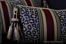 Home Decorative Accents Leopardo Stripe Decorative Designer Pillows Brunschwig Velvet