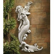 Outdoor Nautical Decor by Outdoor Patio Wall Decor Mermaid Wall Mounted Garden Statue