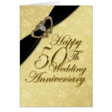 50th wedding anniversary greetings 50th wedding anniversary cards invitations zazzle co uk