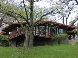 madison waterfront frank lloyd wright style home for sale with