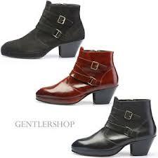 s heel boots sale mens shoes high heel 7cm buckle boots handmade 5047 3 colors