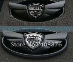 hyundai genesis coupe badge genesis coupe wing badge kit wing emblem kit mat black build your