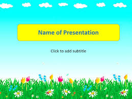 presentation template for kids animated sun animated childs