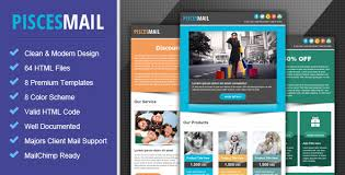 piscesmail email newsletter template by pophonic themeforest