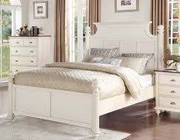 White King Platform Bed Homelegance 1821k 1ck Floresville Cottage Antique White Cal King
