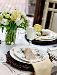 Easter Decorations Table Setting by