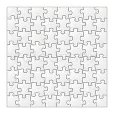 jigsaw puzzle blank parts template 6x6 pieces stock vector