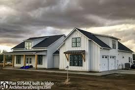architectural designs inc modern farmhouse plan with bonus room 51754hz architectural