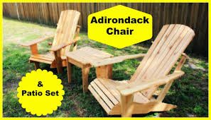 Cedar Patio Furniture Sets - simply easy diy cedar adirondack chair and patio set part 2