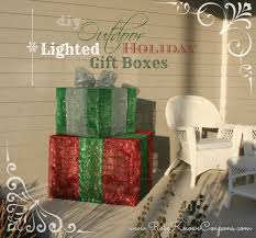 diy outdoor lighted gift boxes gifts gift boxes