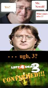 Gabe Newell Memes - left4dead 3 pretty much announced leaked irbgamer