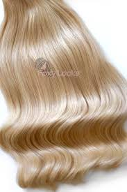 Blonde Weft Hair Extensions by Hollywood Blonde Regular Seamless Clip In Human Hair Extensions 125g