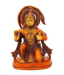 statuestudio hanuman statue brass idol red color antique for
