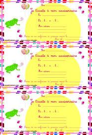 coloriage carte invitation anniversaire carte invitation