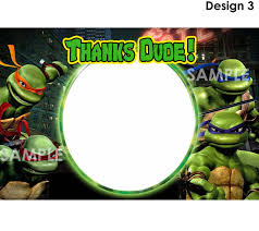 teenage mutant ninja turtles birthday party invitations free