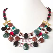 handmade statement necklace images Amadeus gemstone statement necklace earth and moon design jpg