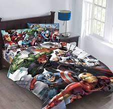 Spiderman Comforter Set Full Marvel Comic Bedding Ebay