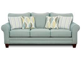 fusion furniture 1140 sleeper sofa w accent pillows old brick
