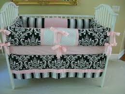 pink and black crib bedding baby bedding set for black and