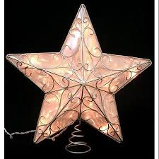 Lighted Star Christmas Tree Topper 14 In Lighted Clear Star With Silver Scroll Design Christmas Tree