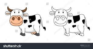 illustration educational coloring book vectorcow stock vector