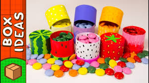 diy miniature fruit gift boxes craft ideas for kids on box