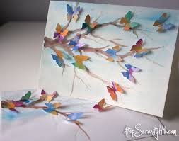 butterflies greeting card butterfly watercolor and serenity