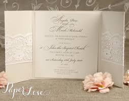 personalised wedding invitations u0026 evening invites handmade lace