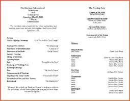 wedding party program template 19 wedding ceremony program template images wedding party