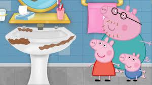 peppa pig games peppa pig bathroom cleaning game kids