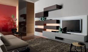 contemporary tv wall unit wooden lacquered wood by mauro