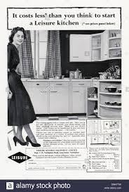Hygena Kitchen Cabinets by Kitchen Cabinet 1950s Stock Photos U0026 Kitchen Cabinet 1950s Stock