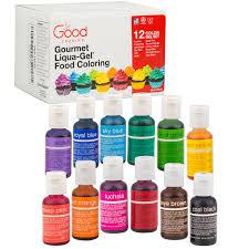 amazon com food coloring liqua gel 12 color