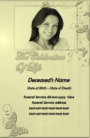 templates for funeral program free funeral program templates