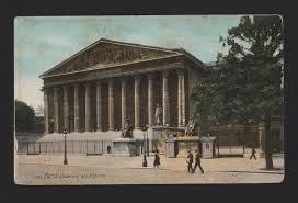 chambre des deputes 1910 years postcard chambre des députés and city