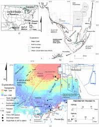 Topographical Map Of Florida by Location Of Taylor Slough In Everglades National Park And