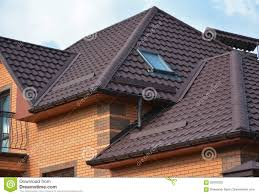 roofing construction with attic skylights rain gutter system and